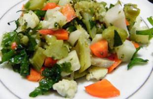 Brokoli ve Karnabahar Salata