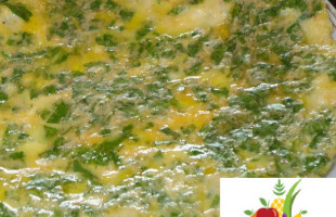Yoğurtlu Maydanozlu Omlet