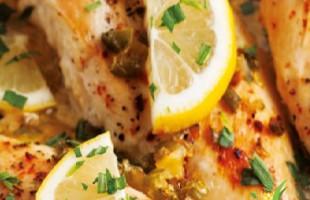 Limon Aromalı Tavuk Göğsü